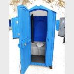 БУ туалетная кабина недорогая дешевая 024