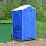 БУ туалетная кабина недорогая дешевая 027