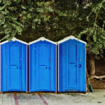 БУ туалетная кабина недорогая дешевая 028