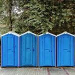 БУ туалетная кабина недорогая дешевая 032