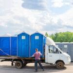 БУ туалетная кабина недорогая дешевая 035