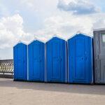 БУ туалетная кабина недорогая дешевая 038