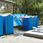 БУ туалетная кабина недорогая дешевая 040