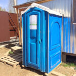 БУ туалетная кабина недорогая дешевая 041