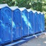 БУ туалетная кабина недорогая дешевая 042