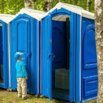 БУ туалетная кабина недорогая дешевая 043