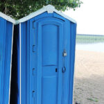 БУ туалетная кабина недорогая дешевая 053