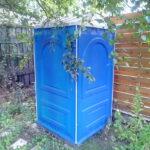 БУ туалетная кабина недорогая дешевая 057