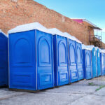 БУ туалетная кабина недорогая дешевая 058