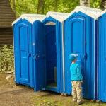 БУ туалетная кабина недорогая дешевая 063