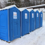 БУ туалетная кабина недорогая дешевая 065