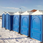 БУ туалетная кабина недорогая дешевая 067