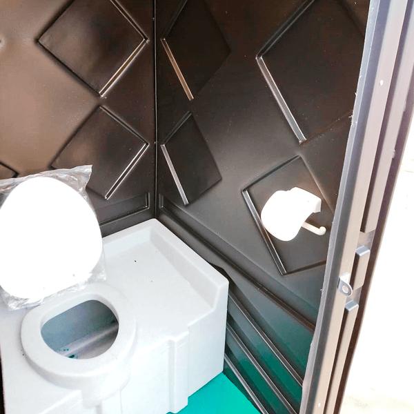 Уличный пластиковый туалет Эконом черная 5