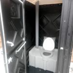 Уличный пластиковый туалет Эконом черная 14