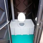 Уличный пластиковый туалет Эконом черная 8