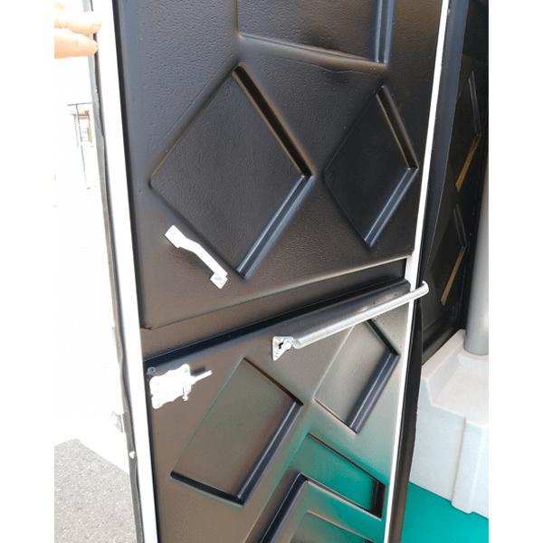 Уличный пластиковый туалет Эконом черная 16