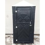 Уличный пластиковый туалет Эконом черная 2