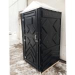 Уличный пластиковый туалет Эконом черная 3