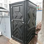 Уличный пластиковый туалет Эконом черная 10