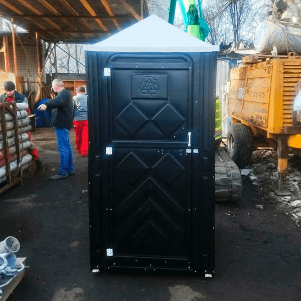 Уличный пластиковый туалет Эконом черная 4