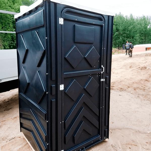 Уличный пластиковый туалет Эконом черная 11