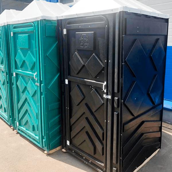 Уличный пластиковый туалет Эконом черная 13