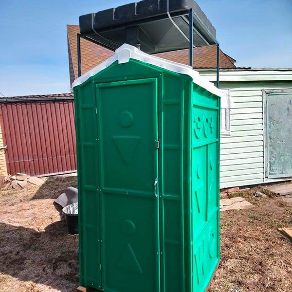 Туалет с летним душем для дачи 11