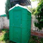 Туалет с летним душем для дачи 15