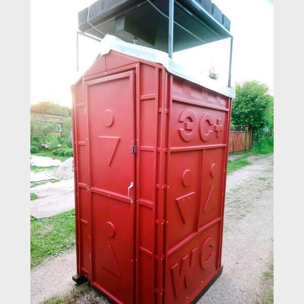 Туалет с летним душем для дачи 16