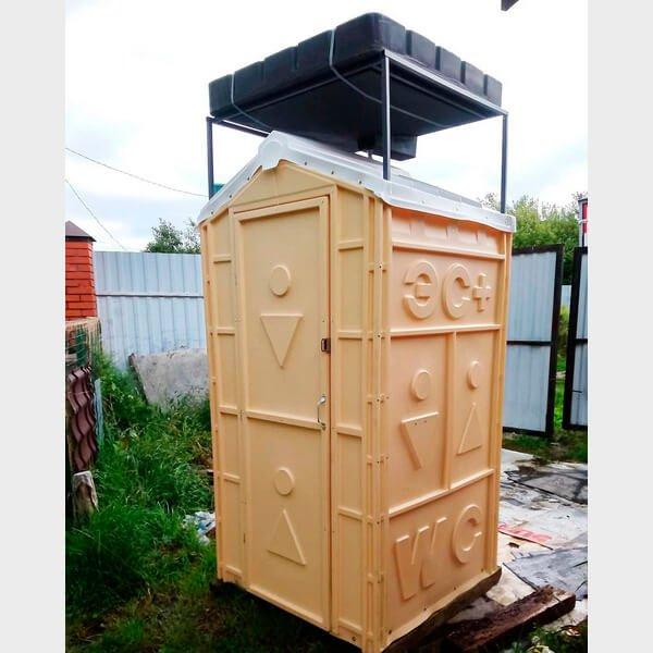 Туалет с летним душем для дачи 17
