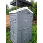 Туалет с летним душем для дачи 18