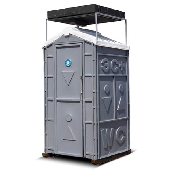 Туалет с летним душем для дачи 1