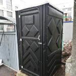 Туалетная кабина черная биотуалет эконом 002