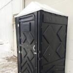Туалетная кабина черная биотуалет эконом 003