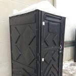 Туалетная кабина черная биотуалет эконом 004