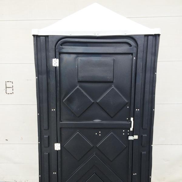 Туалетная кабина черная биотуалет эконом 005
