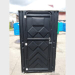 Туалетная кабина черная биотуалет эконом 006