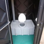 Туалетная кабина черная биотуалет эконом 008