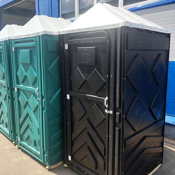 Туалетная кабина черная биотуалет эконом 009