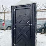 Туалетная кабина черная биотуалет эконом 010
