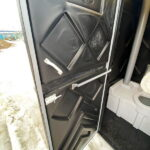 Туалетная кабина черная биотуалет эконом 013