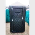 Туалетная кабина черная биотуалет эконом 015-1
