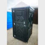 Туалетная кабина черная биотуалет эконом 016-1