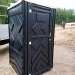 Туалетная кабина черная биотуалет эконом 017