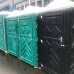Туалетная кабина черная биотуалет эконом 018