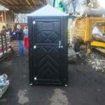 Туалетная кабина черная биотуалет эконом 019