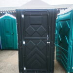 Туалетная кабина черная биотуалет эконом 020
