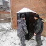 Туалетная кабина черная биотуалет эконом 025