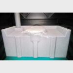 Туалетная кабина черная биотуалет эконом 028