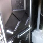 Туалетная кабина черная биотуалет эконом 029